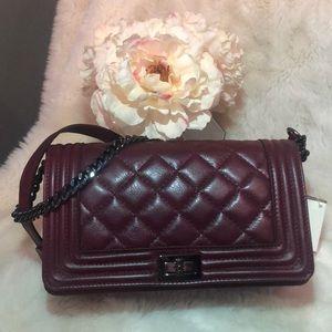 Italian leather Boy Bag styled bag